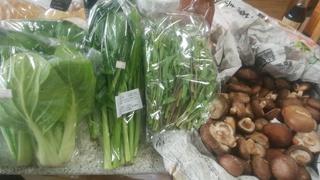 高橋さん、4月しろな、茎立菜、からし菜。椎茸.jpg